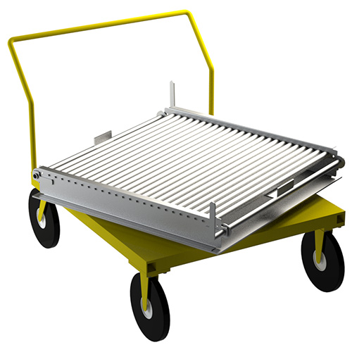 Rotating Roller Deck Pallet Trolley